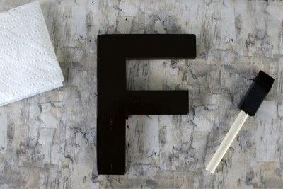 How to make a letter. Diy Color Block Letter - Step 4