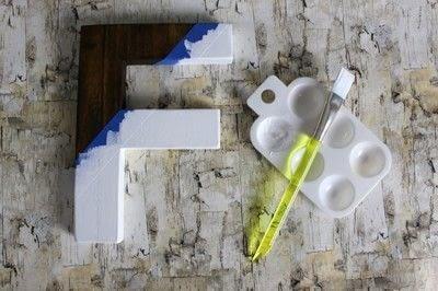 How to make a letter. Diy Color Block Letter - Step 8