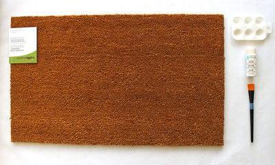 How to make a door mat. Fall Doormat - Step 1