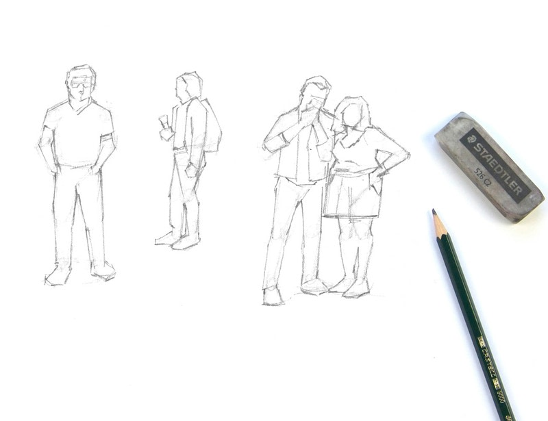 Line Art Figures : Draw simple figures · how to make a drawing art on cut out keep