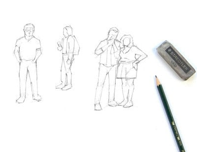 How to make a drawing. Draw Simple Figures - Step 3