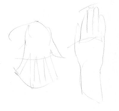 How to make a drawing. Hand Drawing - Step 1