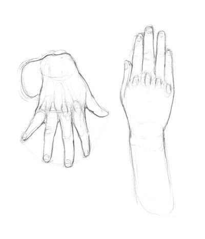 How to make a drawing. Hand Drawing - Step 4