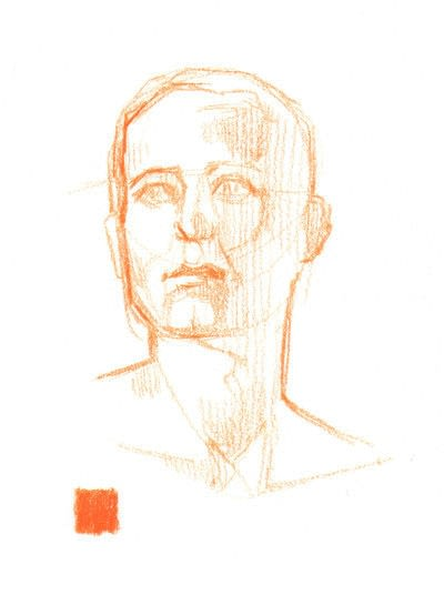 How to create a portrait. Draw A Face In Coloured Pencil - Step 1