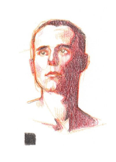 How to create a portrait. Draw A Face In Coloured Pencil - Step 3