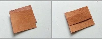 How to sew a leather pouch. Diy Simple Leather Coin Pouch - Step 2