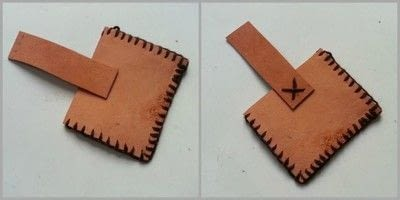 How to sew a leather pouch. Diy Simple Leather Coin Pouch - Step 5