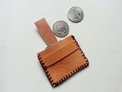 How to sew a leather pouch. Diy Simple Leather Coin Pouch - Step 6