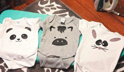 How to sew a baby onesie. DIY Adorable Animal Onesies - Step 3