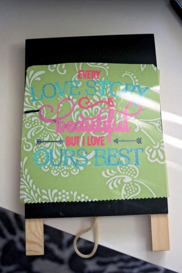 How to make a piece of quote art. Easy 5 Minute Diy Chalkboard Art - Step 3