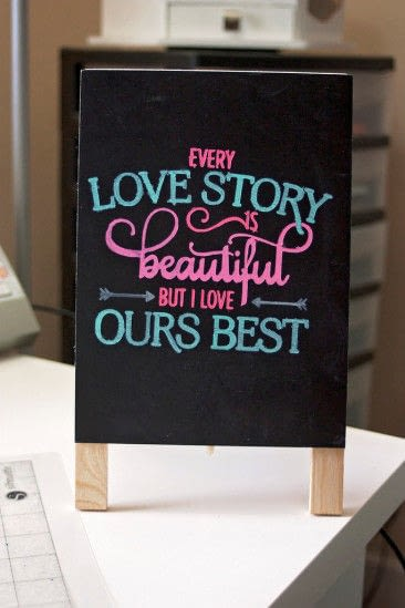 How to make a piece of quote art. Easy 5 Minute Diy Chalkboard Art - Step 4