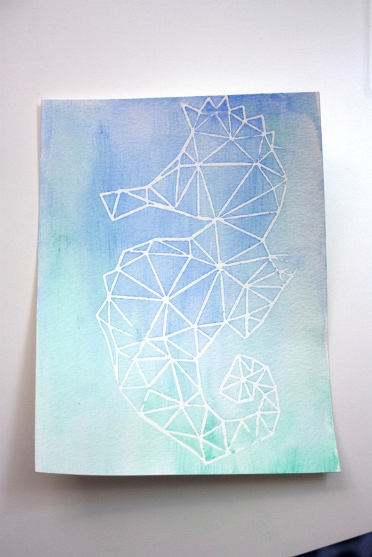 Diy Watercolor Art With A Contact Paper Stencil 183 How To
