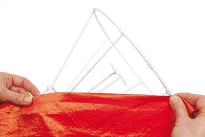 How to make a lamp / lampshade. Flaming Juno - Step 9