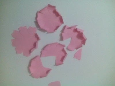 How to make a bouquet. Paper Roses - Step 6