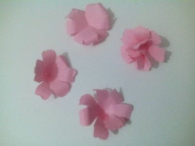 How to make a bouquet. Paper Roses - Step 10