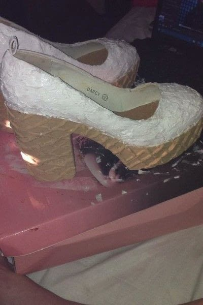 How to revamp a pair of revamped shoes. Ice Cream Shoes - Step 5