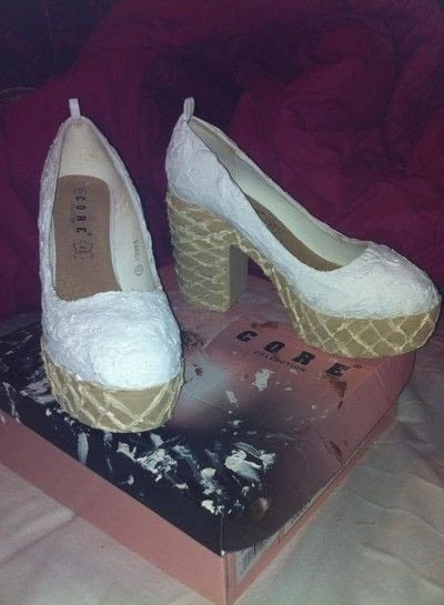 How to revamp a pair of revamped shoes. Ice Cream Shoes - Step 6