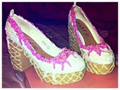 How to revamp a pair of revamped shoes. Ice Cream Shoes - Step 7