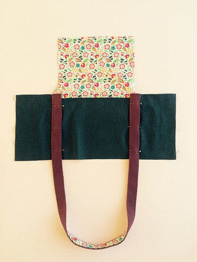 How to sew a pocket tote . The Ultimate Shopping Bag - Step 4