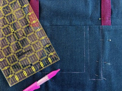 How to sew a pocket tote . The Ultimate Shopping Bag - Step 6