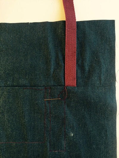 How to sew a pocket tote . The Ultimate Shopping Bag - Step 7