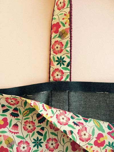 How to sew a pocket tote . The Ultimate Shopping Bag - Step 13