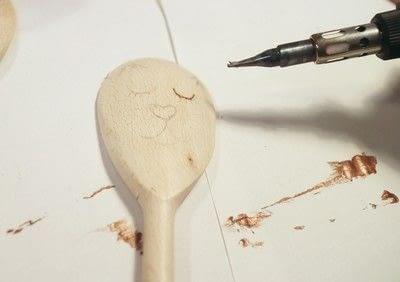 How to make a kitchen utensil. Wood Burned Utensils - Step 6