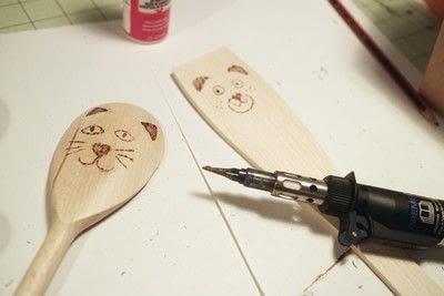 How to make a kitchen utensil. Wood Burned Utensils - Step 7