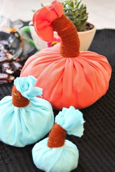 How to make a pumpkin plushie. Diy Pumpkin Home Decor Out Of Old T Shirts - Step 6