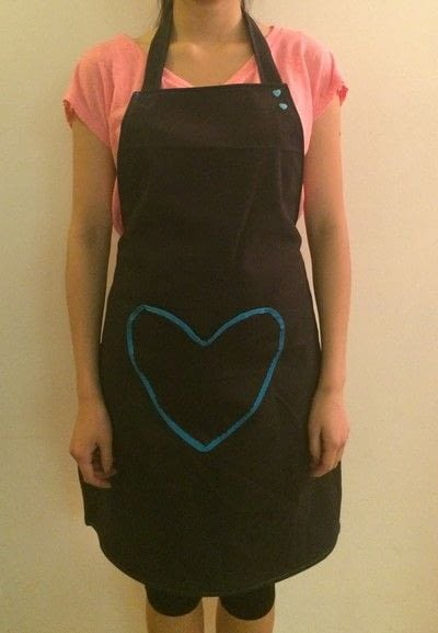 How to make a full apron. Adjustable Heart Themed Apron Using KAMsnaps - Step 13