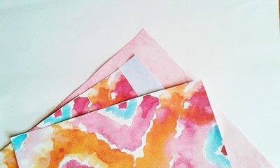 How to make wall decor. Watercolor Triangle Wall Art - Step 1