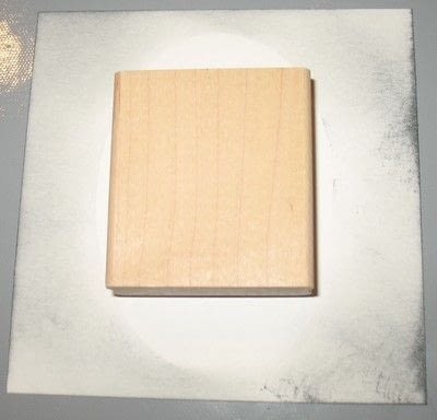 How to make a papercraft. Putting A Frame Around A Stamped Image - Step 6