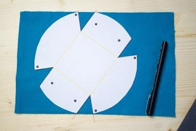 How to sew a fabric basket. No Sew Felt Baskets - Step 1