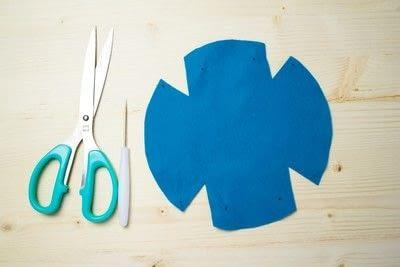 How to sew a fabric basket. No Sew Felt Baskets - Step 2