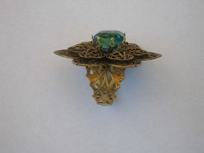 How to make a metal ring. Vintage Button Filigree Ring - Step 5