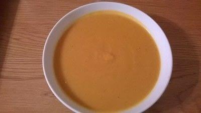 How to cook a potato soup. Sweet Potato & Coconut Soup - Step 5
