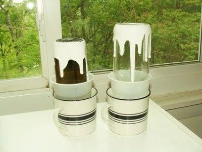 How to decorate a bottle vase. Pop Art Vases - Step 2