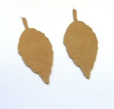 How to make a pair of leather earrings. Leather Leaf Earrings - Step 1
