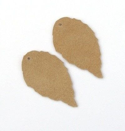 How to make a pair of leather earrings. Leather Leaf Earrings - Step 2