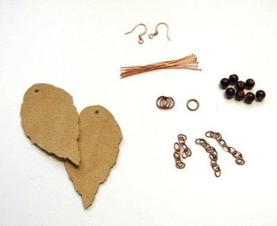 How to make a pair of leather earrings. Leather Leaf Earrings - Step 3