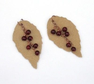 How to make a pair of leather earrings. Leather Leaf Earrings - Step 6