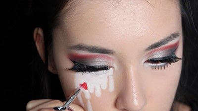 How to create a face painting. Evil Alice In Wonderland Halloween Makeup Tutorial - Step 28