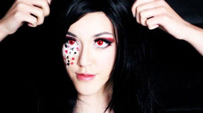 How to create a face painting. Evil Alice In Wonderland Halloween Makeup Tutorial - Step 36