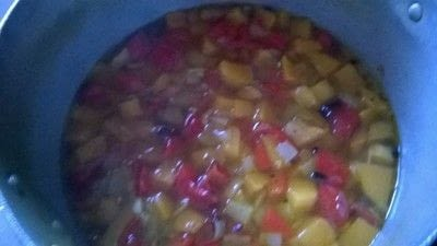 How to cook vegetable soup. Roasted Vegetable Soup - Step 4