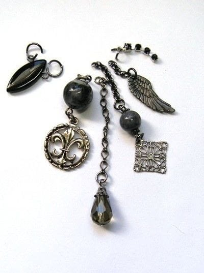 How to make a charm necklace. Assemblage Necklace - Step 3