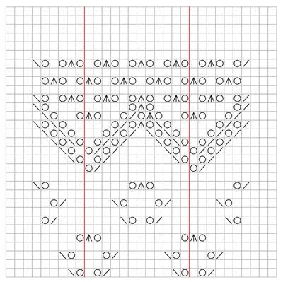 How to make a shawl. Traditional Stole - Step 6
