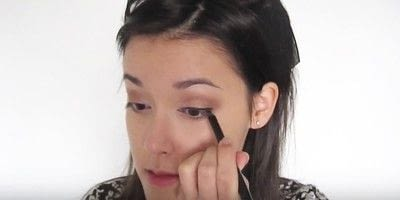 How to create a smokey eye. Autumn Makeup   Natural Smokey Eye And Red Lip - Step 14