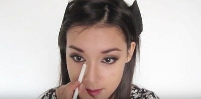 How to create a smokey eye. Autumn Makeup   Natural Smokey Eye And Red Lip - Step 27