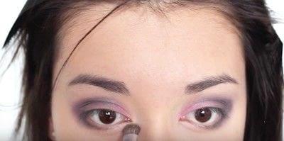 How to create an eye makeup look. Pink Goth Grunge Makeup Tutorial - Step 12