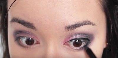 How to create an eye makeup look. Pink Goth Grunge Makeup Tutorial - Step 13